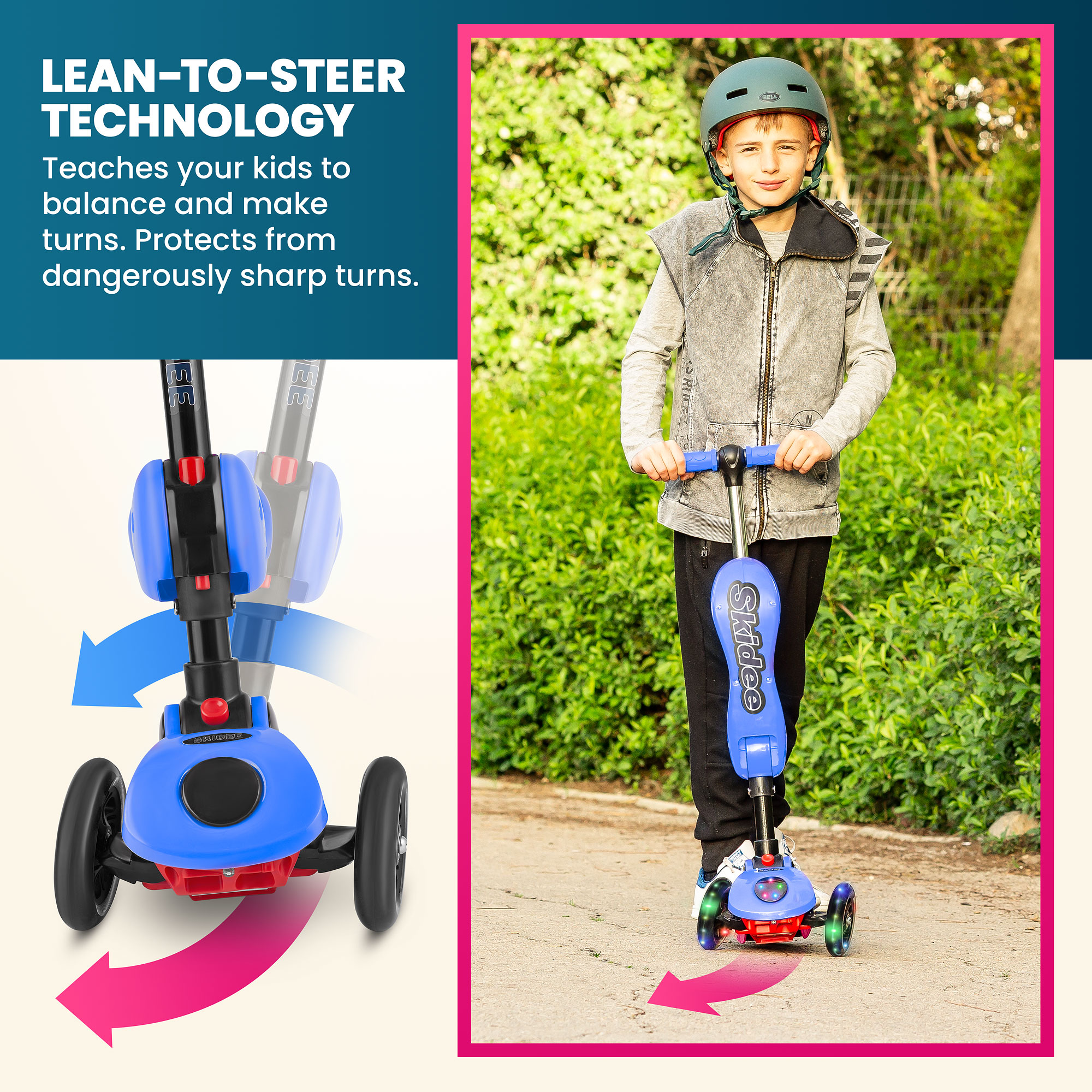 Y100 2-in-1 Scooter for Kids with Folding Removable Seat ZERO ASSEMBLY Adjustable Height Kick Scooter for Toddlers Girls /& Boys 2-12 Years-Old Fun Outdoor Toys for Kids Fitness 3 LED Flashing Wheels